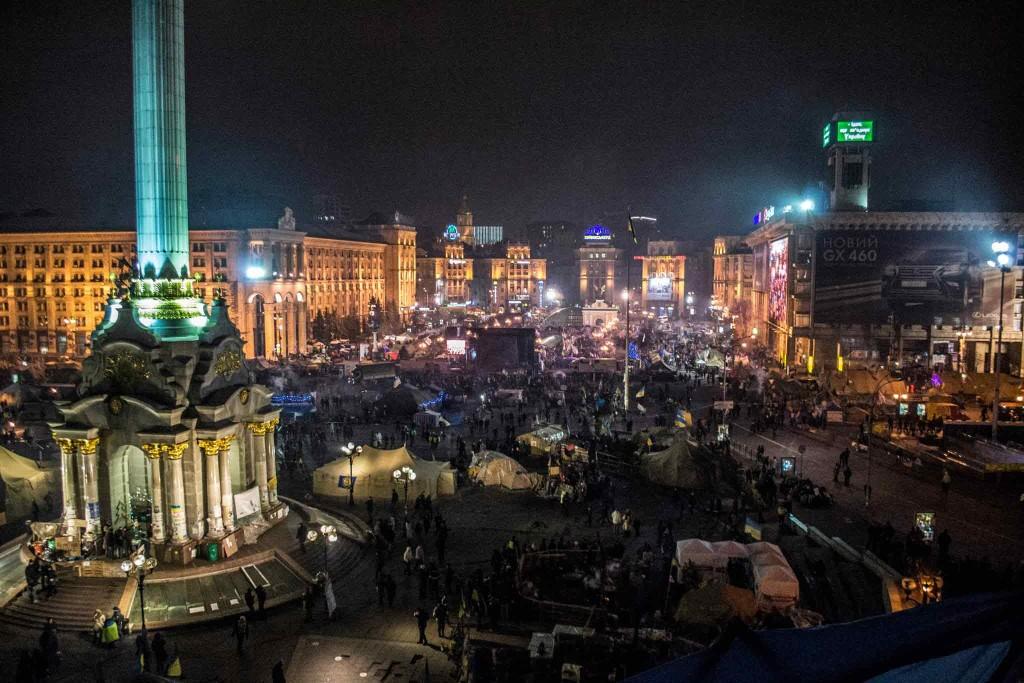 Євромайдан Київ - ранок 1 січня