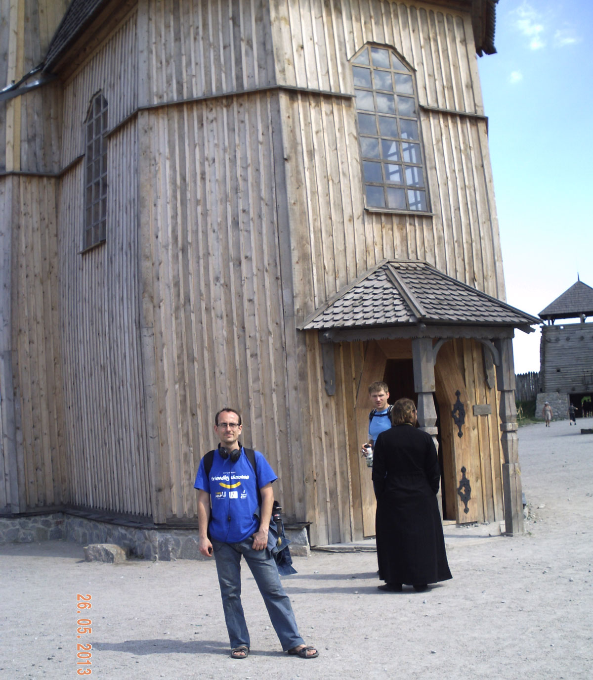 Деревянная церковь на Хортице, где правятся службы