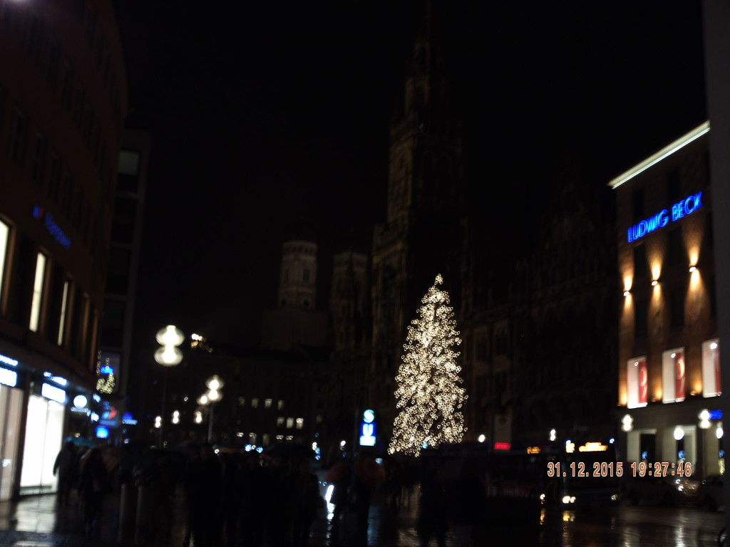 Christmas tree Munich at NIght