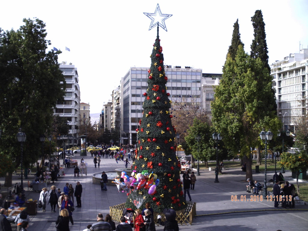 Christmas tree Athens - Main Christmas tree of Greece on Syntagma square