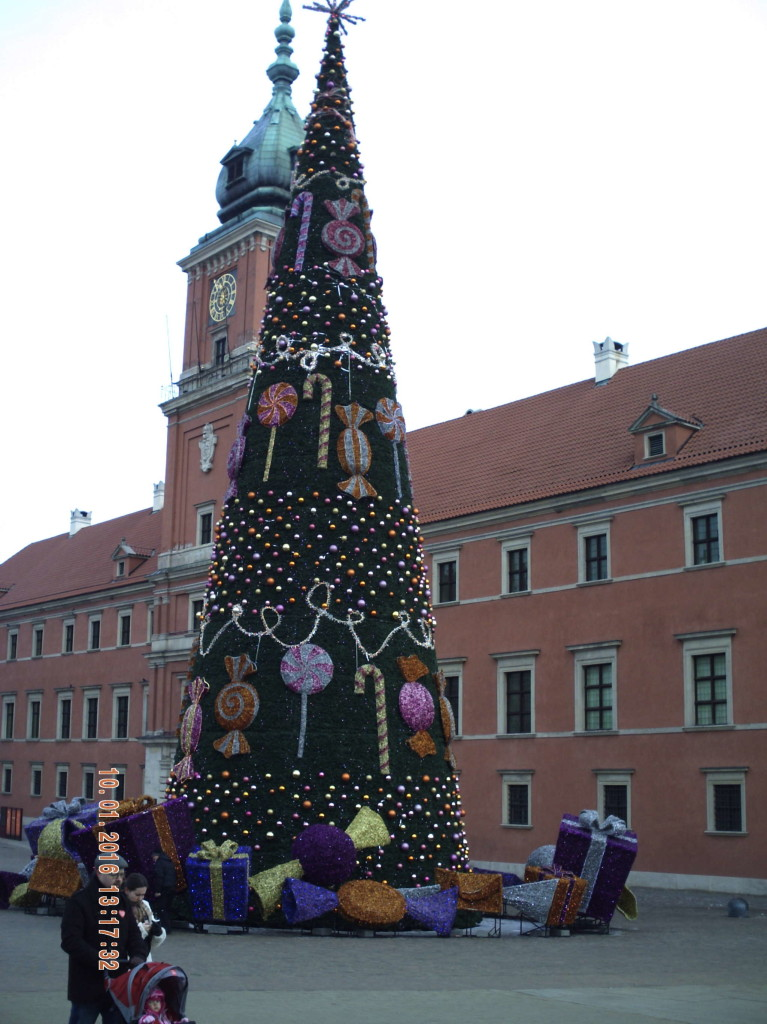 Christmas tree Warszaw - Main Christmas tree of Poland