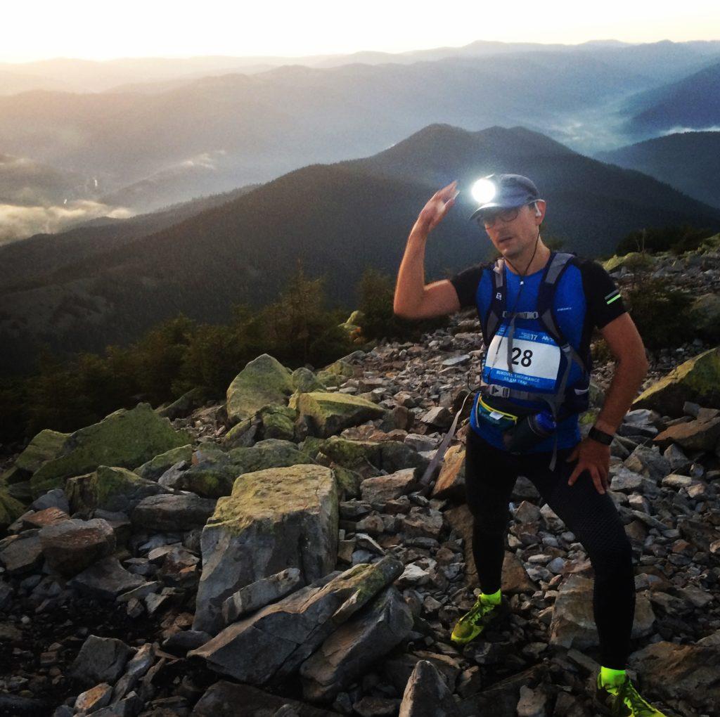 Meeting Sunrise on Trail Ultramarathon in Carpathians