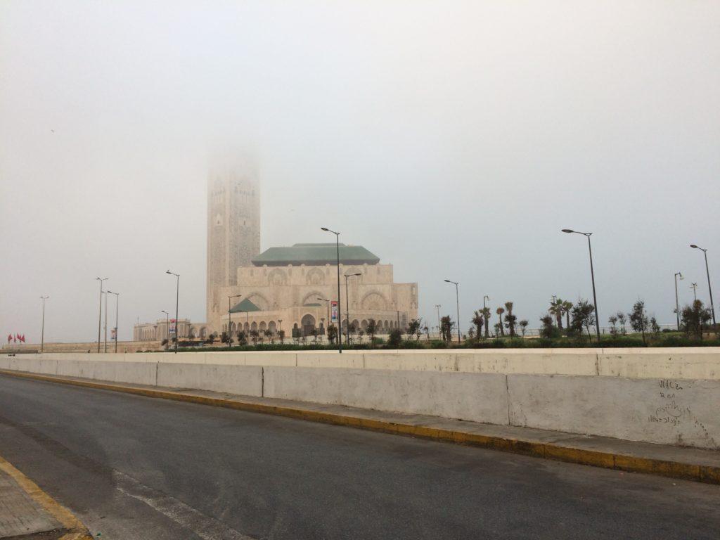 Foggy Casablanca Morning. Good weather to run marathon!
