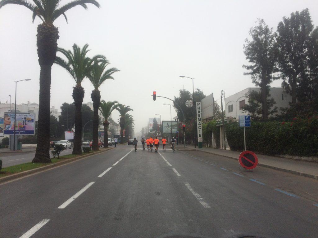 Foggy Marathon Run in a beautiful city