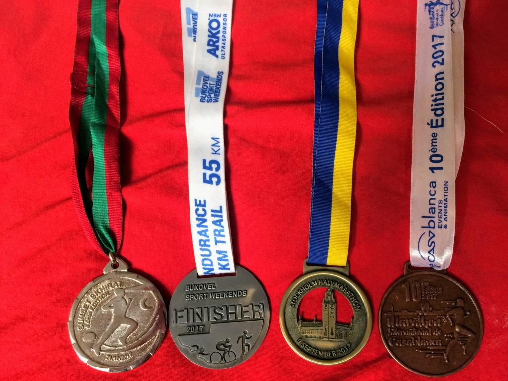 The medals I won in the last two month