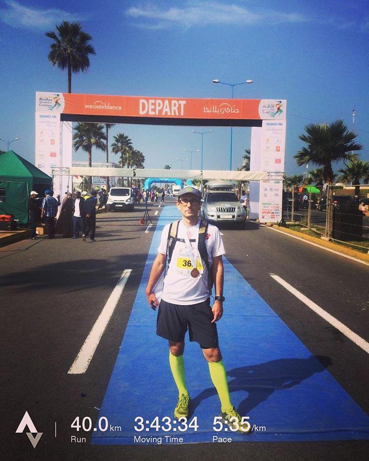 Finish Line of Casablanca Marathon.